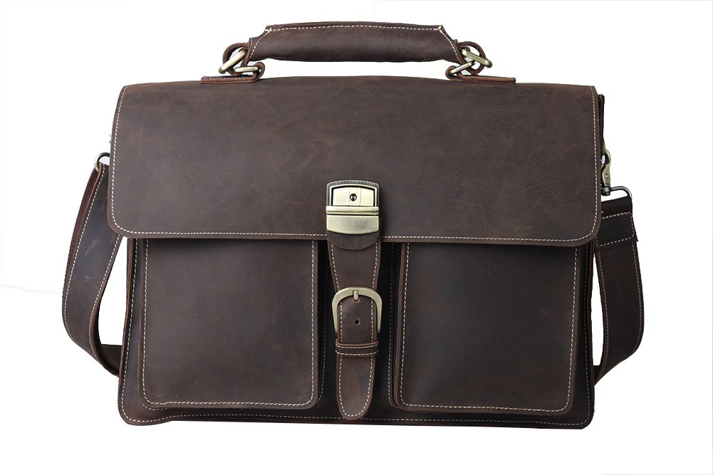 Genda 2Archer Retro Style Leather Messenger Bag Business Office Satchel Bag