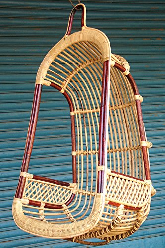 bamboo cane swing chair for indoor and outdoor sa nursery amazon