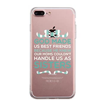 aed5a76924 365 Printing God Made Us Mint iPhone 7 7S Plus BFF: Amazon.co.uk:  Electronics