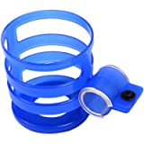 Bike Bicycle Water Bottle Cages, Plastic Lightweight Water Bottle Holder /Quick Easy to Mount, for Road and Mountain Bike (Natural Blue)