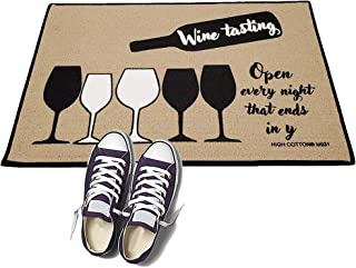 product image for Wine Tasting- Open Every Night That Ends in Y - HIGH COTTON Welcome Doormat