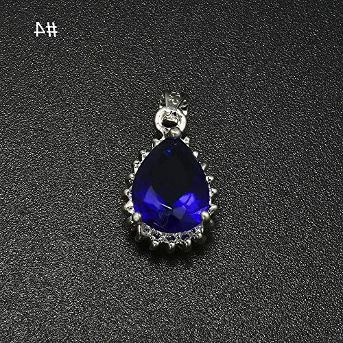 Werrox 1Set Elegant Women Ruby Emerald Sapphire Pendant Earrings Necklace Jewelry Gift | Model NCKLCS - 23371 |