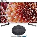 Sony XBR49X900F 49-Inch 4K Ultra HD Smart LED TV (2018 Model) with Google Home Mini (Charcoal)