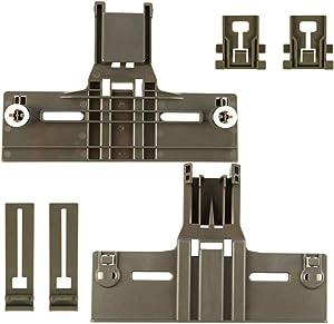 6 Packs UPGRADED W10350376(2) W10195840(2) W10195839(2) Dishwasher Top Rack Parts for Kenmore elite,W/ 0.9 In Diameter Wheel,kitchen Aid whirlpool kenmore Dishwasher Adjuster 665,w10350374,kuds30ixss4