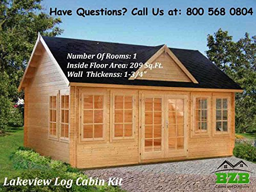 BZBCabins.com Lakeview Log Cabin Kit