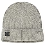 Light Cotton Skull Beanie - Light Grey