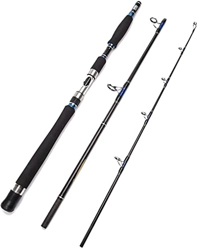 Entsport E Series – Conqueror 3-Piece Spinning Rod Portable Graphite Spinning Fishing Rod Heavy Fishing Rod Spin 30-50 Lbs, 1 Year Limited Warranty