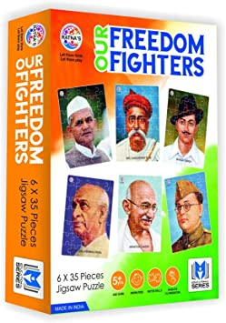 RATNAS Our Freedom Fighters Jigsaw for Kids. Learn About The Super Heroes of India WHO Helped India Before and After Independence