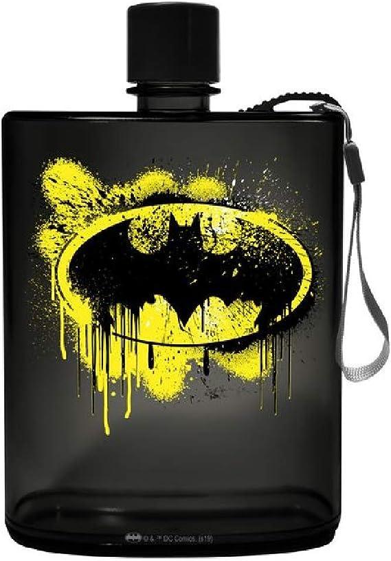 Spoontiques 21150 Batman Graffiti Acrylic Flask