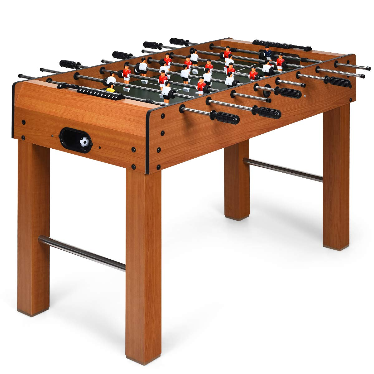 GYMAX 48'' Foosball Table, Indoor Soccer Wood Game Table w/ 2 Balls, Competition Sized & Multi Person Table Soccer for Adults, Home, Game Room (48'') by GYMAX