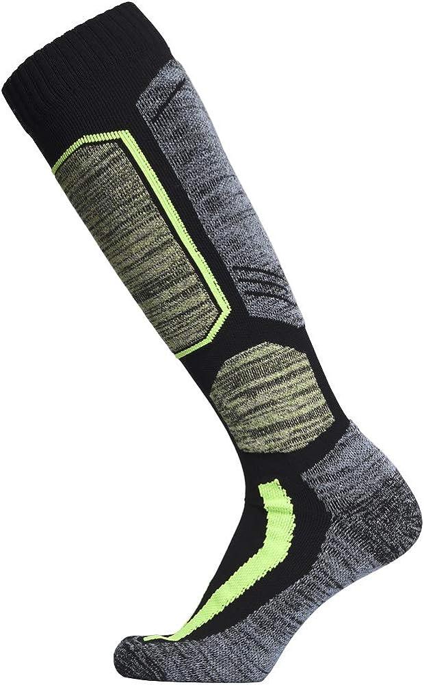 Snowboarding Cold Weather WEIERYA Ski Socks 2 Pairs Pack for Skiing Winter Performance Socks