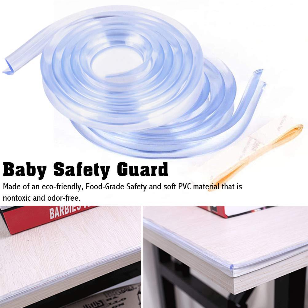 Macabolo 2 St/ück Silikon Baby Bumper Streifen Abdeckung Anti Kollision Streifen mit doppelseitigem Klebeband transparent Eckschutz