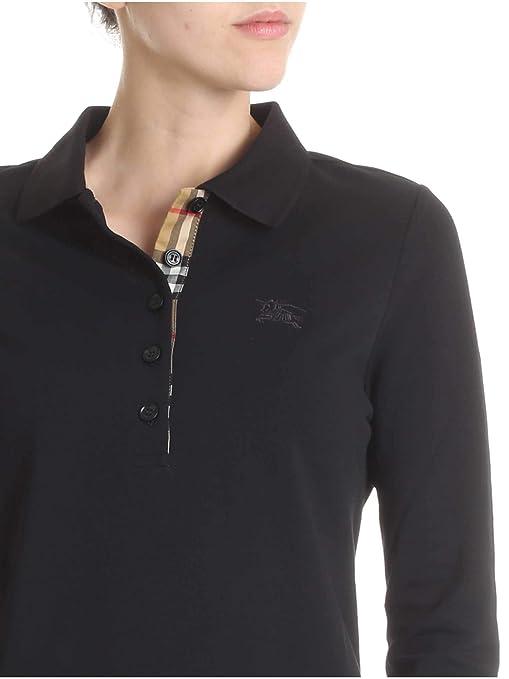 5eaef541ed9 BURBERRY Femme 8004798 Noir Coton Polo  Amazon.fr  Vêtements et accessoires