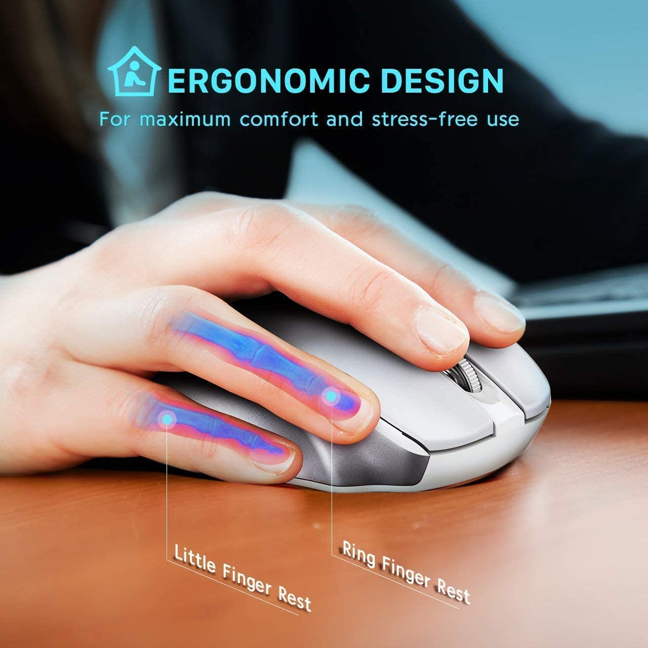 2.4GHz Wireless Connection for PC Laptop Windows 7//8//10 Ultra-Slim USB Keyboard Noiseless Mouse Set with Water-Dropping Keycaps Mac Vista 12 Shortcuts VicTsing Wireless Keyboard and Mouse Combo