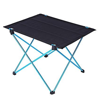 Amazon.com: Stone Wordd Outdoor Foldable Table Portable ...