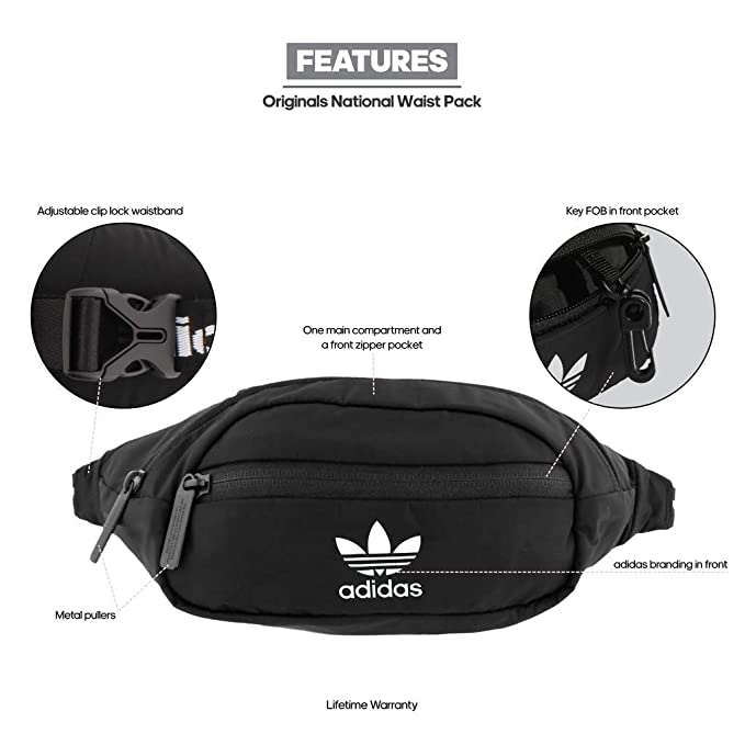 7b9305c80b Amazon.com   adidas Originals National Waist Pack
