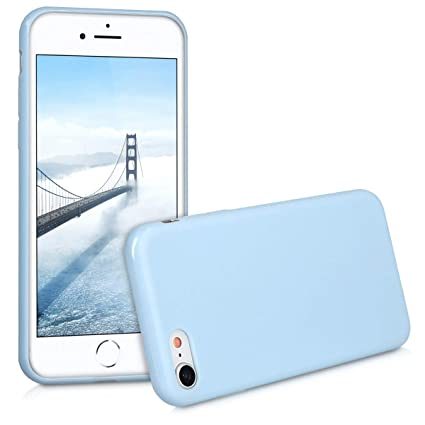 45e2602ad99 kwmobile TPU Silicone Case for Apple iPhone 7/8 - Soft Flexible Shock  Absorbent Protective Phone Cover - Light Blue Matte: Amazon.ca: Cell Phones  & ...