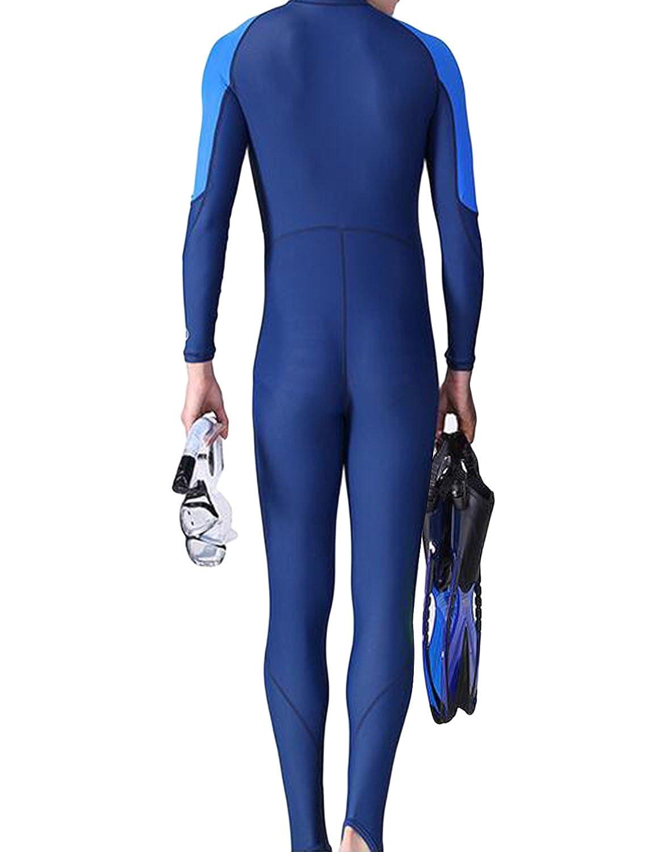 Earlish Mens Full Wetsuit One Piece For Sea Surf Snorkel Swim UV Sun Protection