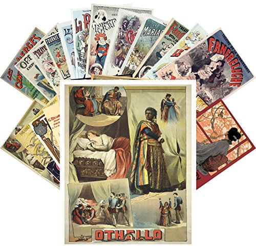 Postcard Set 24pcs Opera and Theater Vintage Show Posters