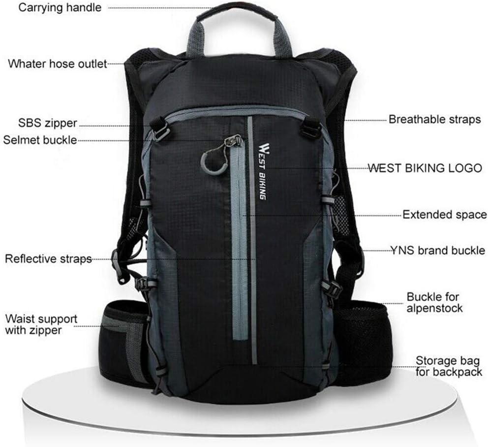 Jaune 10L L/éger Sac /À Dos V/élo Respirant Sac /À Dos /Étanche Sec Sacs Pliable Running Unisexe Daypacks pour V/élo Randonn/ée Camping