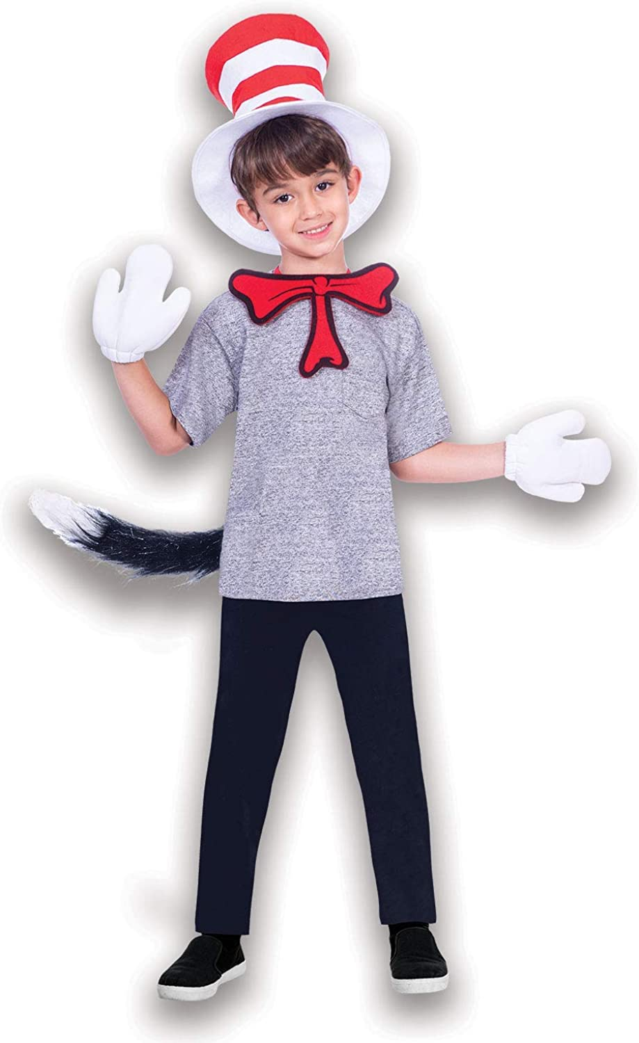Cat In The Hat Kit Boys Fancy Dress Dr Seuss World Book Day Kids Costume Set