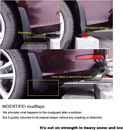 MOERTIFEI Car Mudguard Fender Mud Flaps Splash Guard Kit fit for Chevrolet Equinox 2018 2019