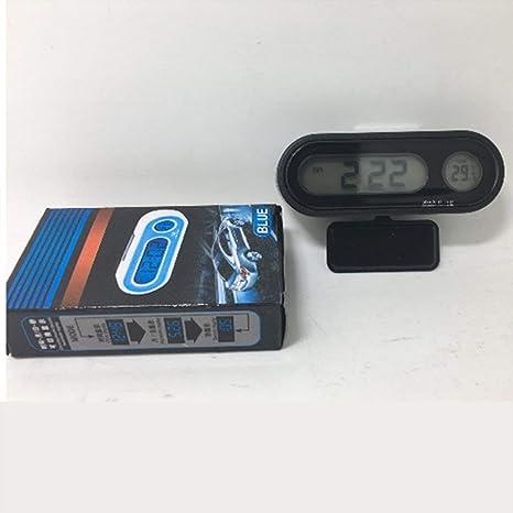 Multifuncional Pequeño Tamaño Digital Display LCD Detector de Temperatura luz de Fondo Azul del Reloj del