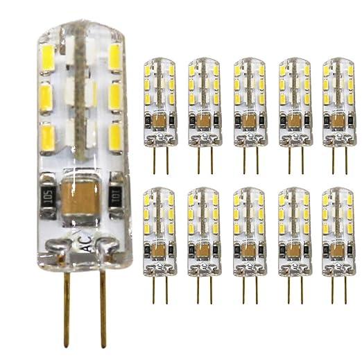 mengjay®, 10 unidades Bombilla LED G4 perlas 1.5 W, AC 220 – 240