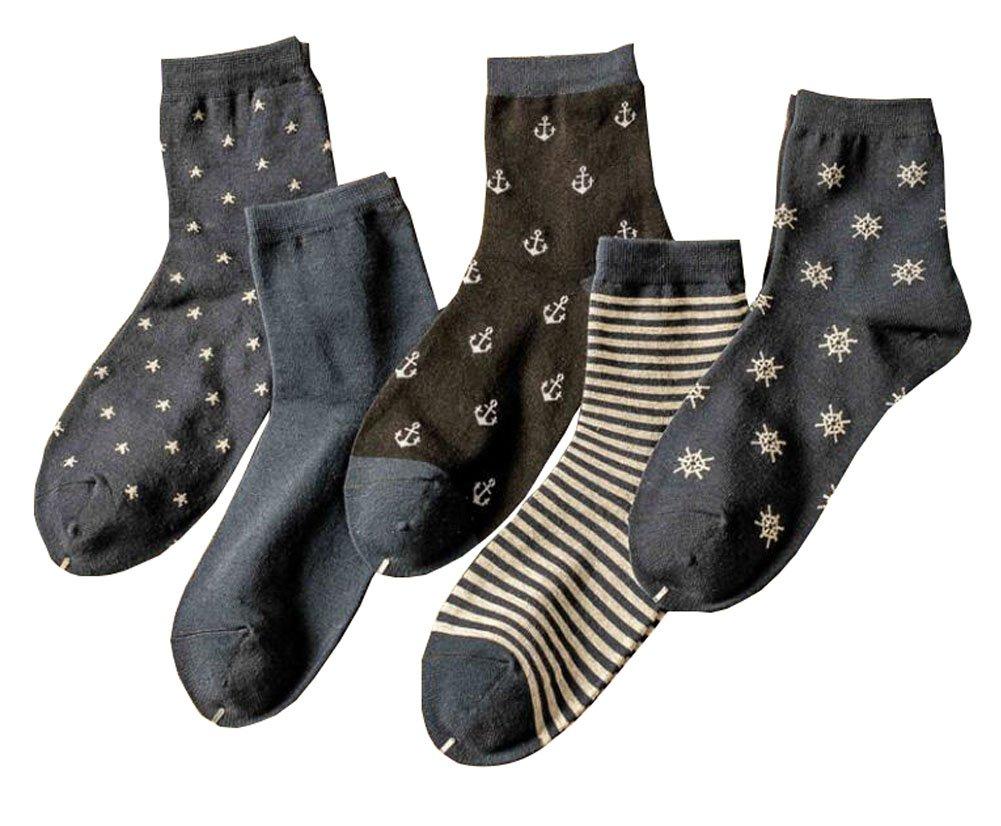 Mode 5 Paar Herren Kleid Warm Socken Black Temptation