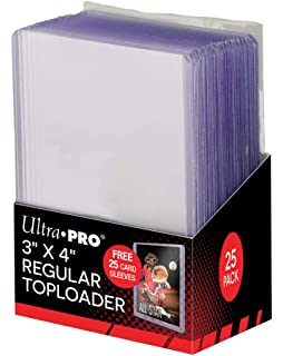 Amazon.com: Ultra Pro 3x4 Top Loaders 100 ct Plus 100 Free ...