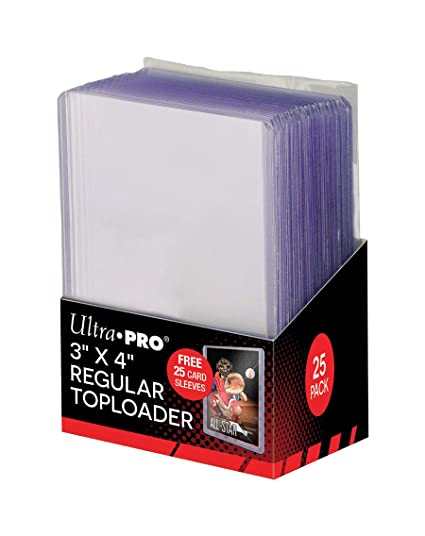 Amazon.com : Ultra Pro 3x4 Top Loaders 100 ct Plus 100 Free ...
