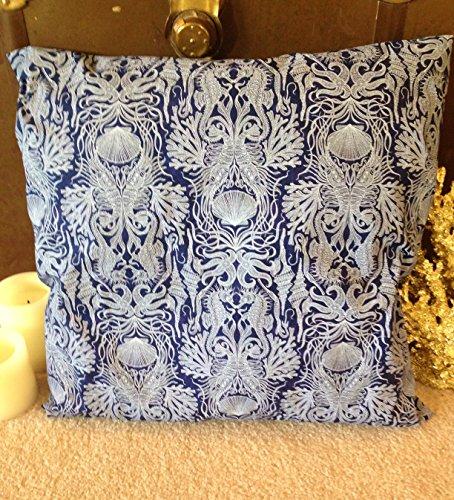 Cheap  Deep Sea Blue Under the Sea Print Beach Pillow Covers Ocean Seaside..