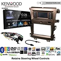 Volunteer Audio Kenwood DDX9904S Double Din Radio Install Kit with Apple CarPlay Android Auto Bluetooth Fits 2011-2014 Edge (Bronze)
