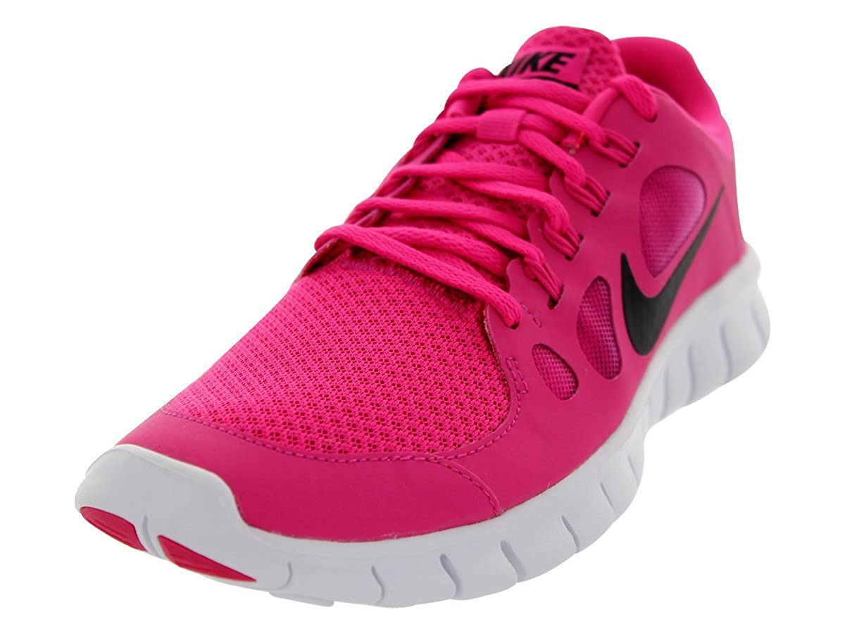 more photos 42247 492f7 Nike Kids Free 5.0 (GS) Vivid Pink/Black/White Running Shoe 5 Kids US