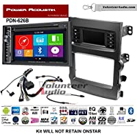 Volunteer Audio Power Acoustic PDN-626B Double Din Radio Install Kit with GPS Navigation Bluetooth CD/DVD Player Fits 2013-2017 Chevrolet Malibu
