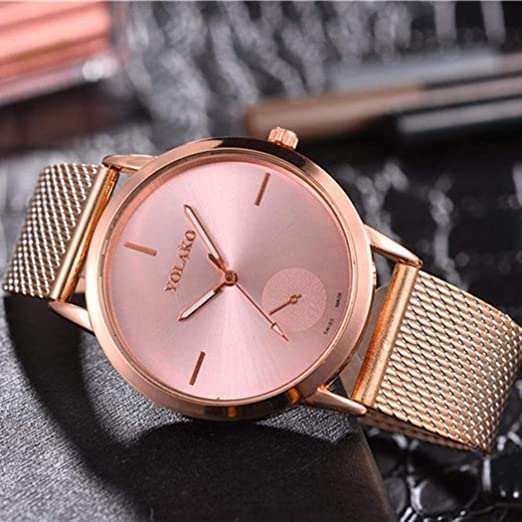 Amazon.com: Womens Mens Thin Watch Business Stainless Steel Mesh Band Quartz Dress Watch: Shoes