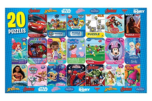 les in Mini Tins 20-pack (20 Childrens Puzzles)