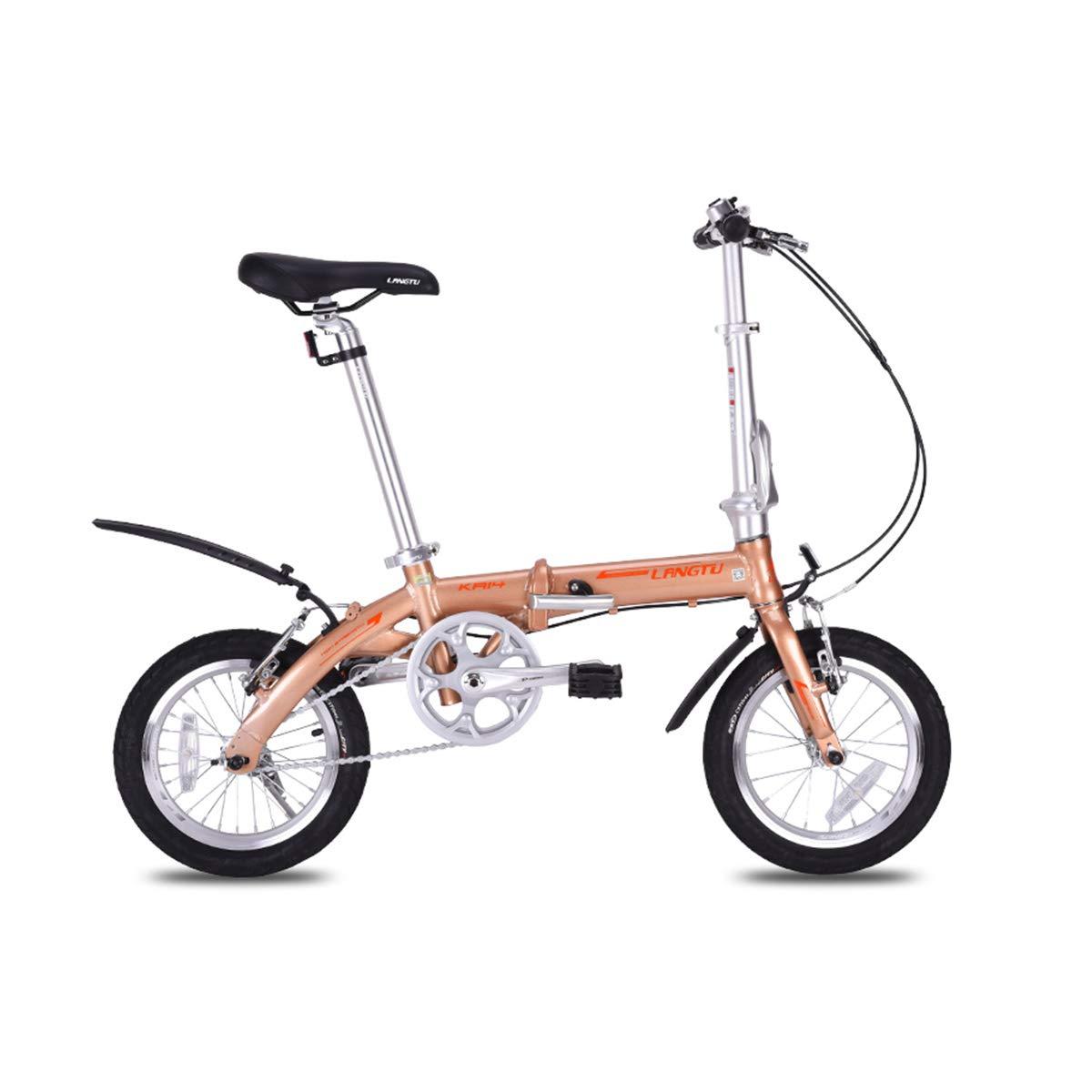 YCHSG Bicicleta Plegable Bicicleta de aleación de Aluminio 412 ...