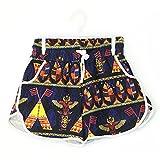 Glass House Apparel Women's Summer Casual High Waist Beach Shorts (Small/Medium, Native)