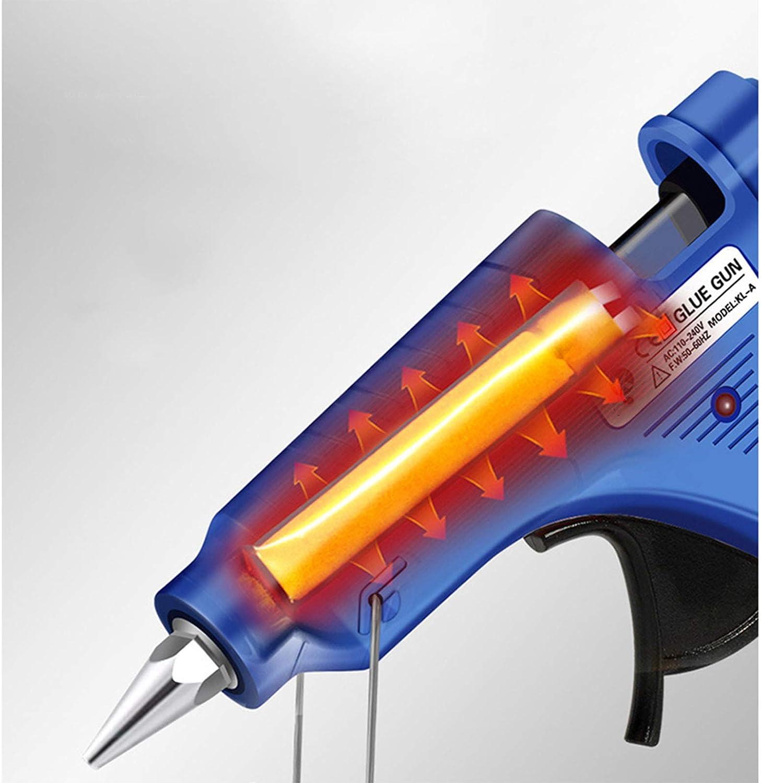 ,Blue Puyong Mini 20W Hot Glue Gun Pink//Blue Maintenance Suitable for Manual DIY 110V-240V High Temperature Hot Melt Glue Gun Crafts