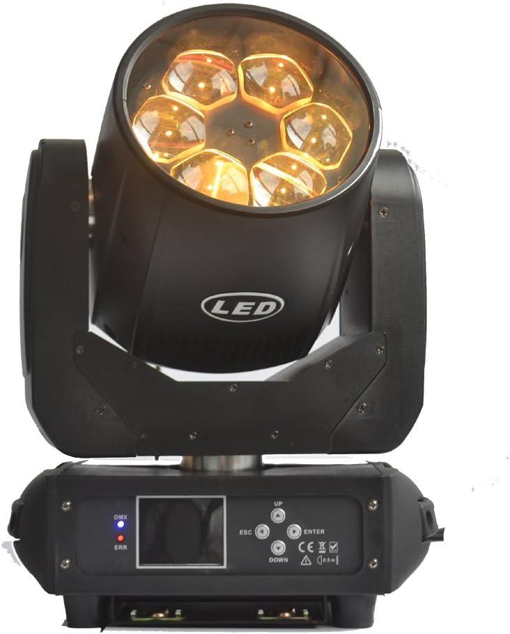 2pcs / lotカートンパック6led 40w 4in1 rgbw回転ズームヘッドライトを移動する