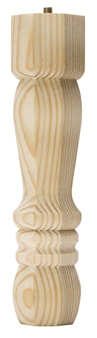 Waddell 2409 Pine Traditional Table Leg, 9u0026quot;
