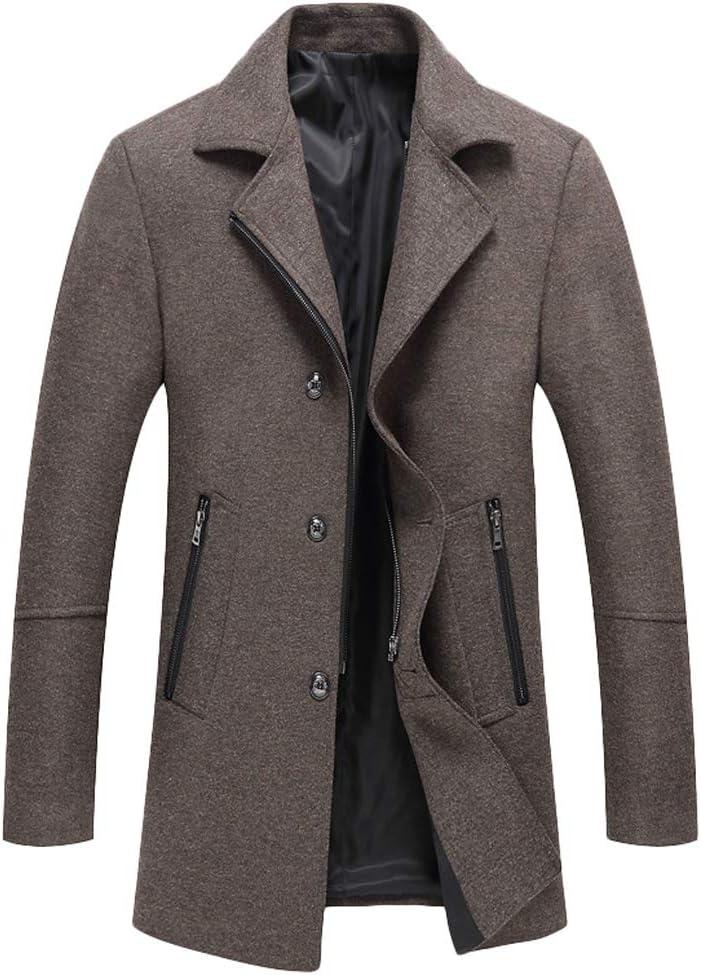 معطف رجالي من الصوف من متجر موردويميس ضيق وياقة ضيقة معطف شتوي متوسط