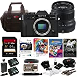 Fujifilm X-T20 Mirrorless Camera Body 64GB Body + 50mm Lens Bundle (Black)