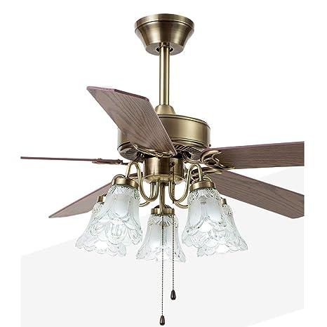 WENYAO Antigua lámpara de Ventilador de Techo Restaurante de ...