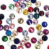 144 Swarovski 2028 / 2058 20ss crystal flatback rhinestones ss20 mix colors