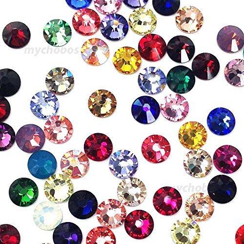 20ss Flat Back Crystals - 144 Swarovski 2028 / 2058 20ss crystal flatback rhinestones ss20 mix colors