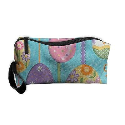 LIYUNRT23 Portable Happy Easter Receiving Package Makeup Bag Pencil Pen Case Makeup Bag Set For Unisex