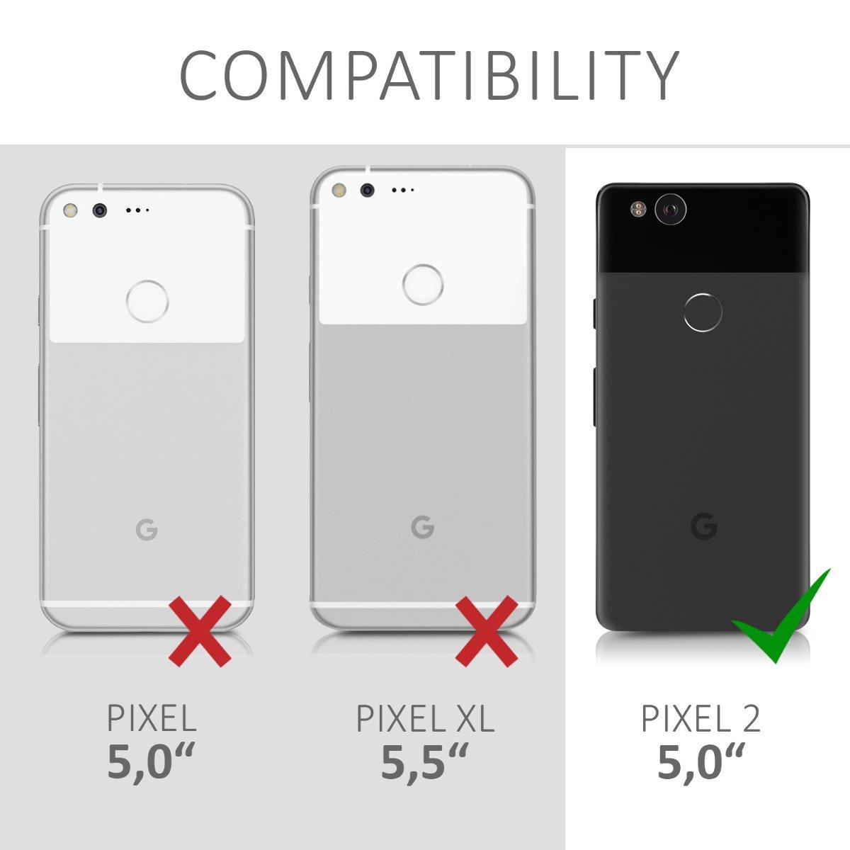 kwmobile Funda para Google Pixel 2 Cover Carcasa Protectora de Corcho para tel/éfono m/óvil r/ígido y Resistente Trasero