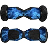 Skin for Swagtron T6 Off-Road Hoverboard - Blue Mystic Flames| MightySkins Protective, Durable, and Unique Vinyl Decal wrap cover | Easy To Apply, Remove, and Change Styles | Made in the USA